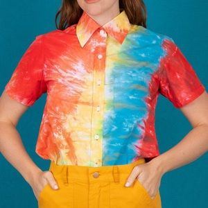 Big Bud Press Tie Dye Button Down Shirt